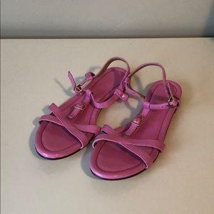 Jcrew Pink Sandals (never worn!)